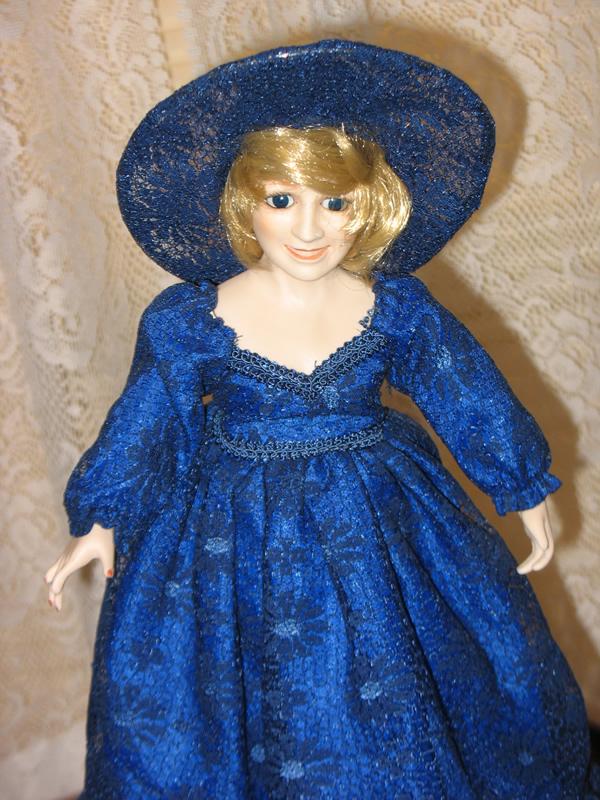 Grandma Alice S Attic Princess Diana Blue Summer Dress